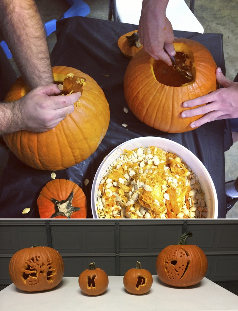 Carved Pumpkins with Camden and the Boys