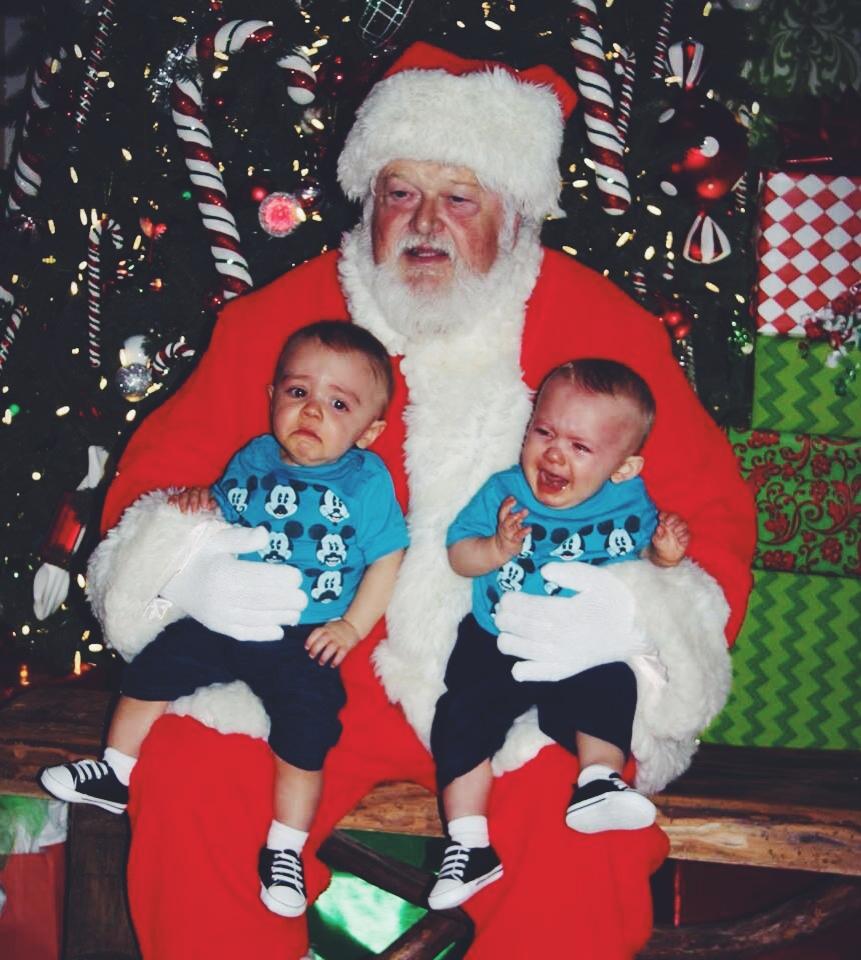 We Met Santa! But weren't fans.